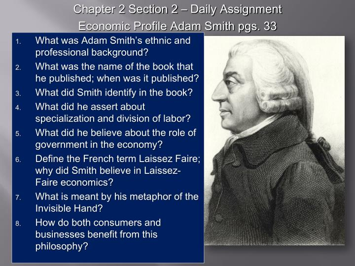 Chapter 2 Section 2 – Daily Assignment