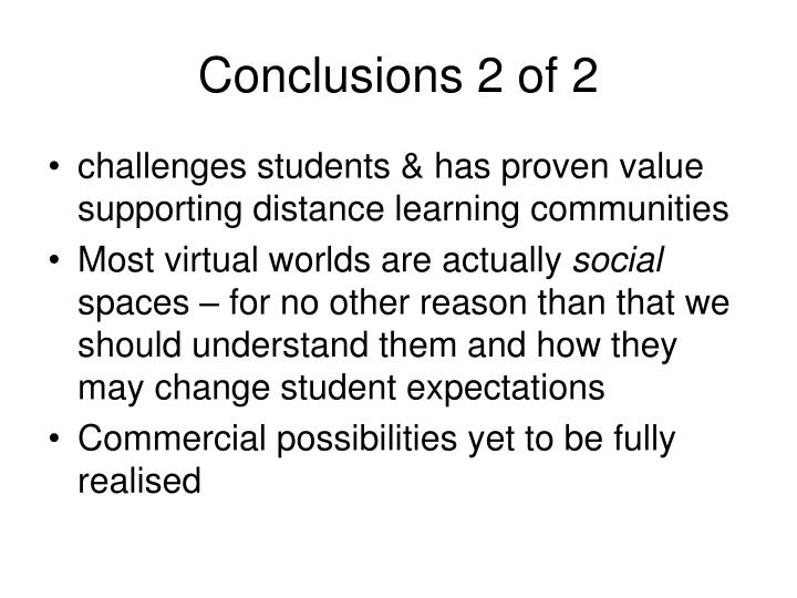Conclusions 2 of 2