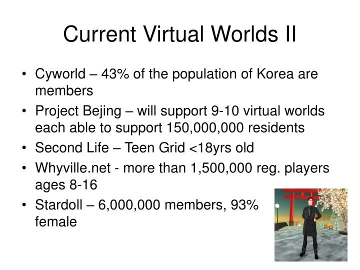 Current Virtual Worlds II