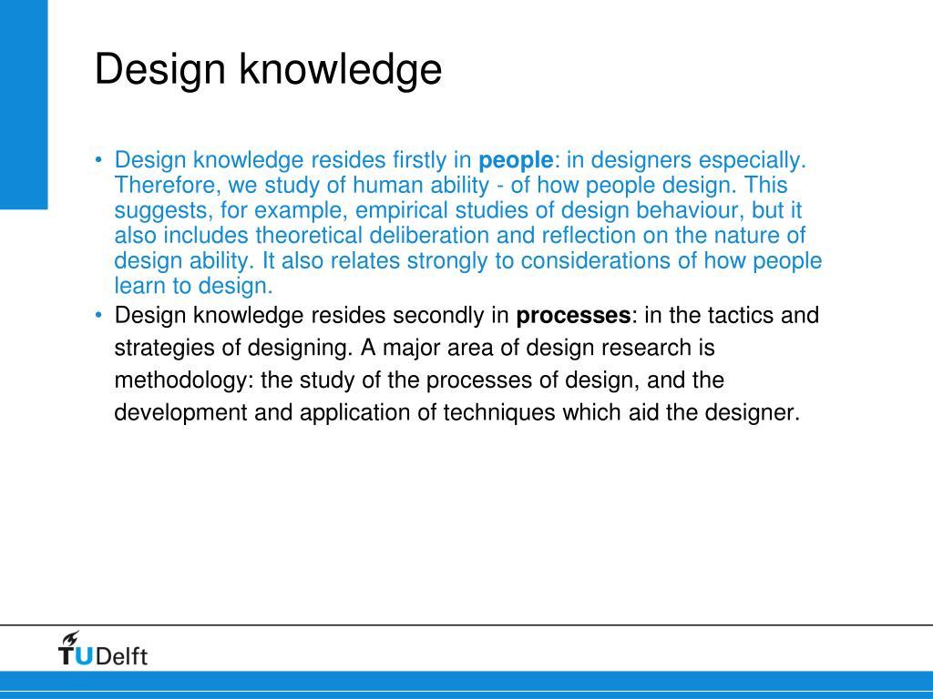 Design knowledge