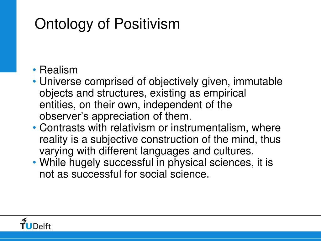 Ontology of Positivism