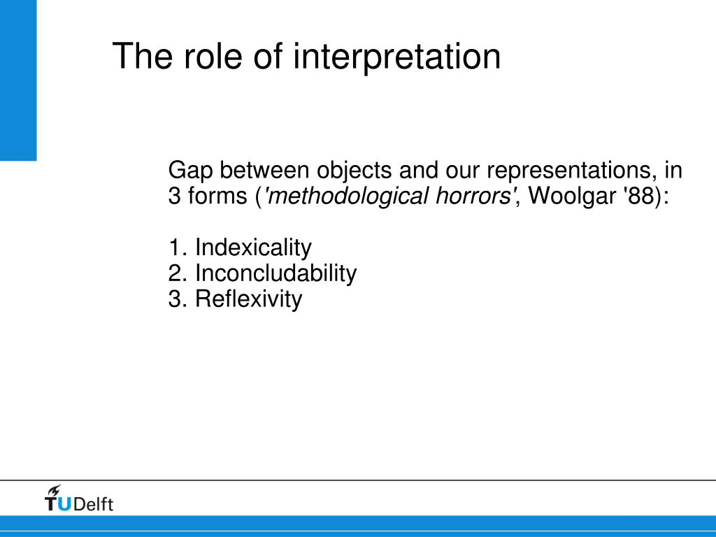 The role of interpretation