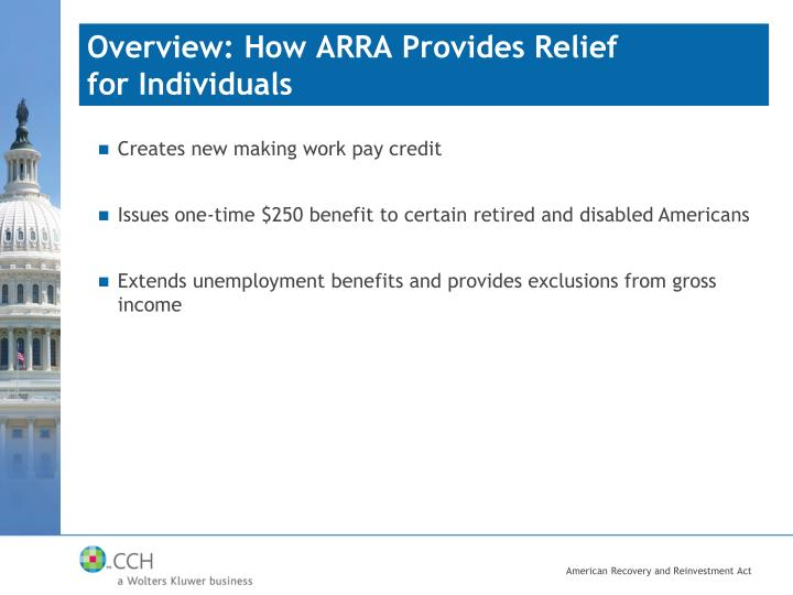 Overview: How ARRA Provides Relief