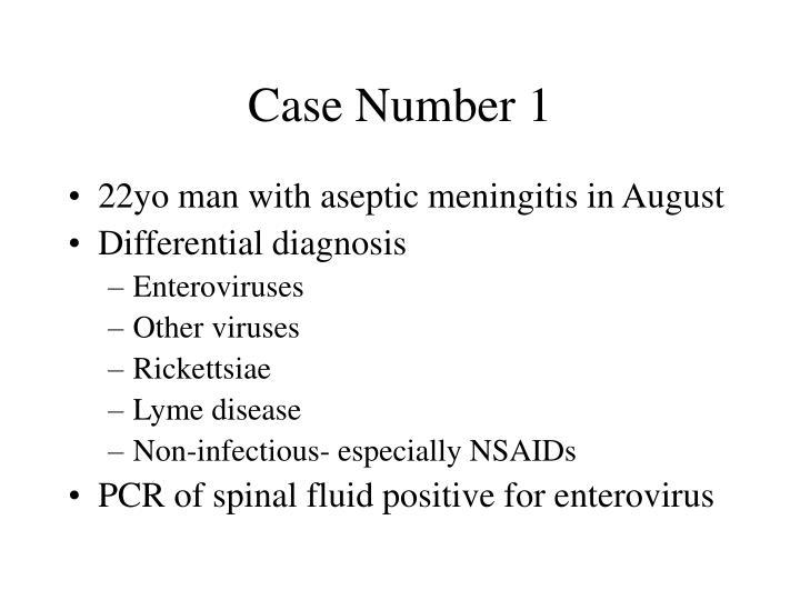 Case Number 1