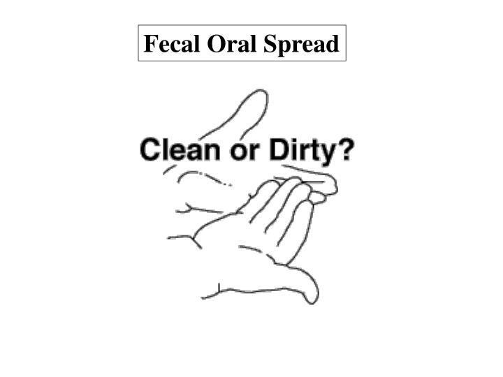Fecal Oral Spread