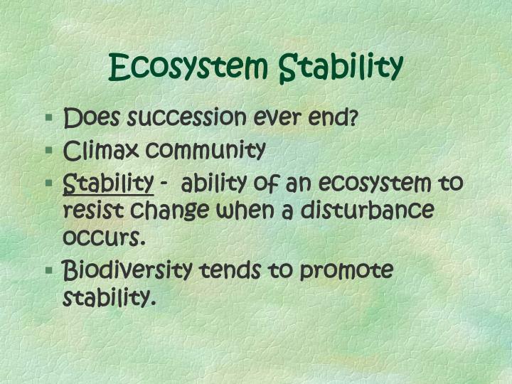 Ecosystem Stability