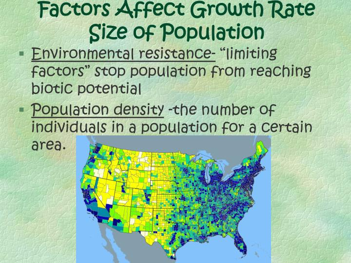 Factors Affect Growth Rate Size of Population