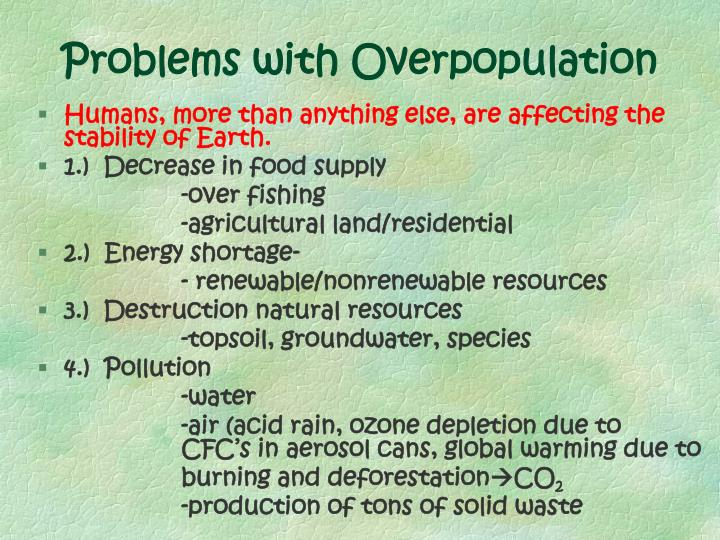 Problems with Overpopulation