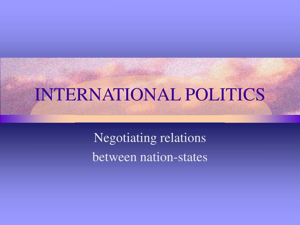 international politics l.