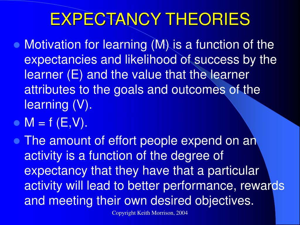 EXPECTANCY THEORIES