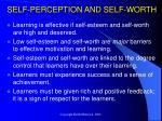 self perception and self worth