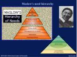 maslow s need hierarchy