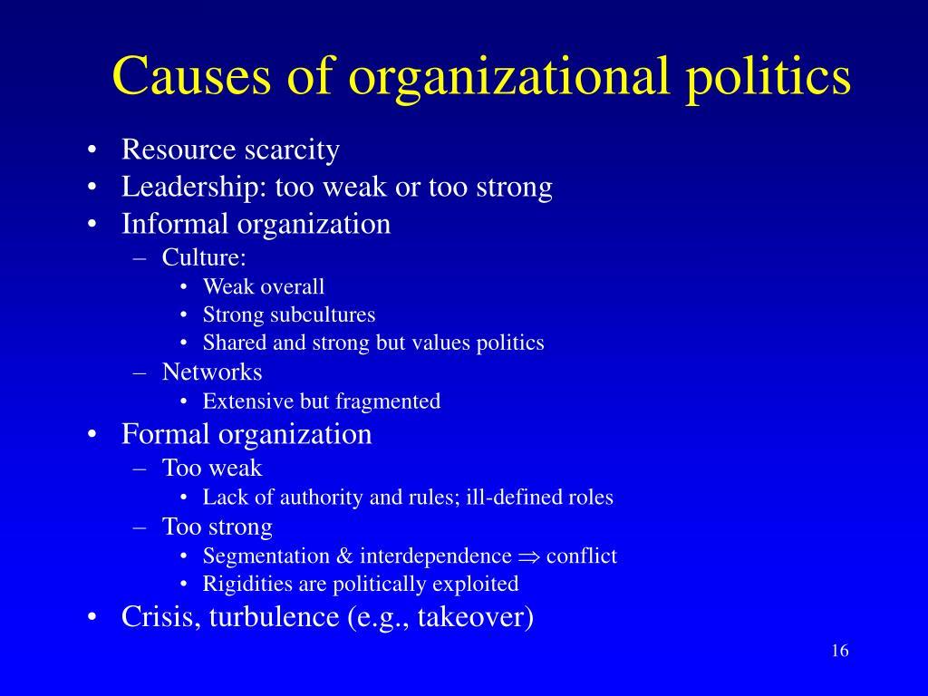Causes of organizational politics