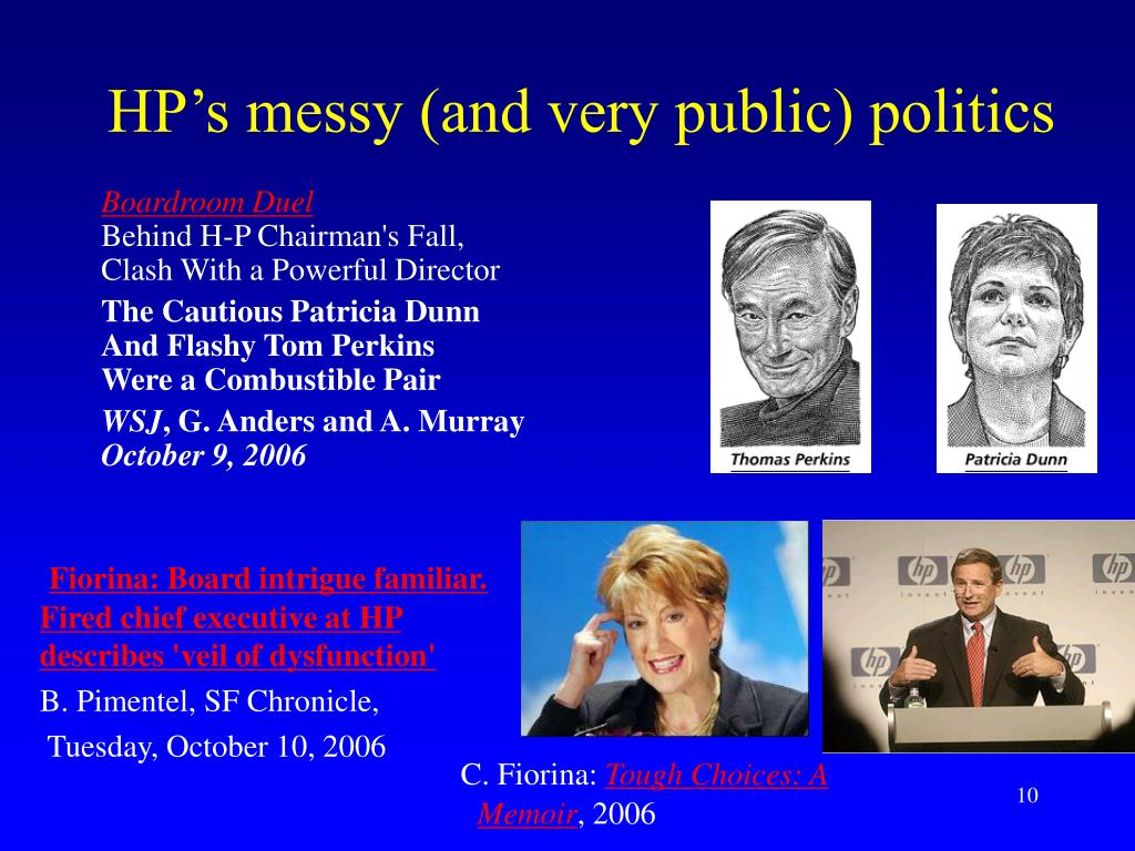 HP's messy (and very public) politics
