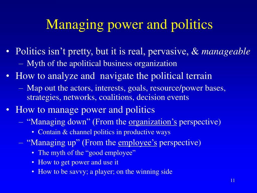 Managing power and politics