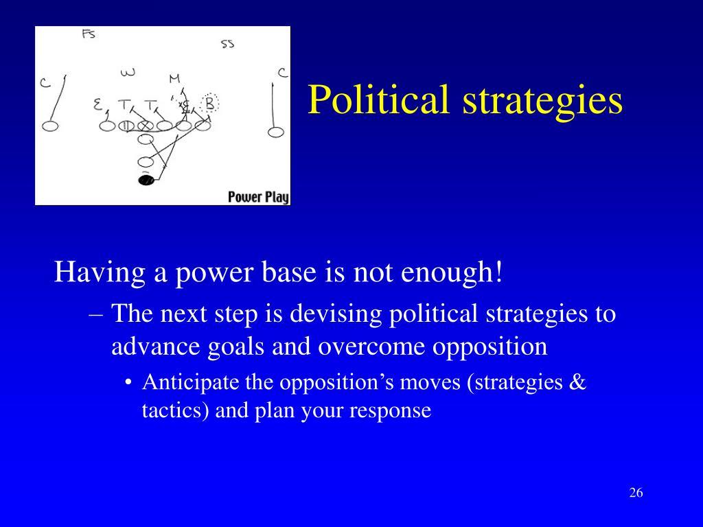 Political strategies