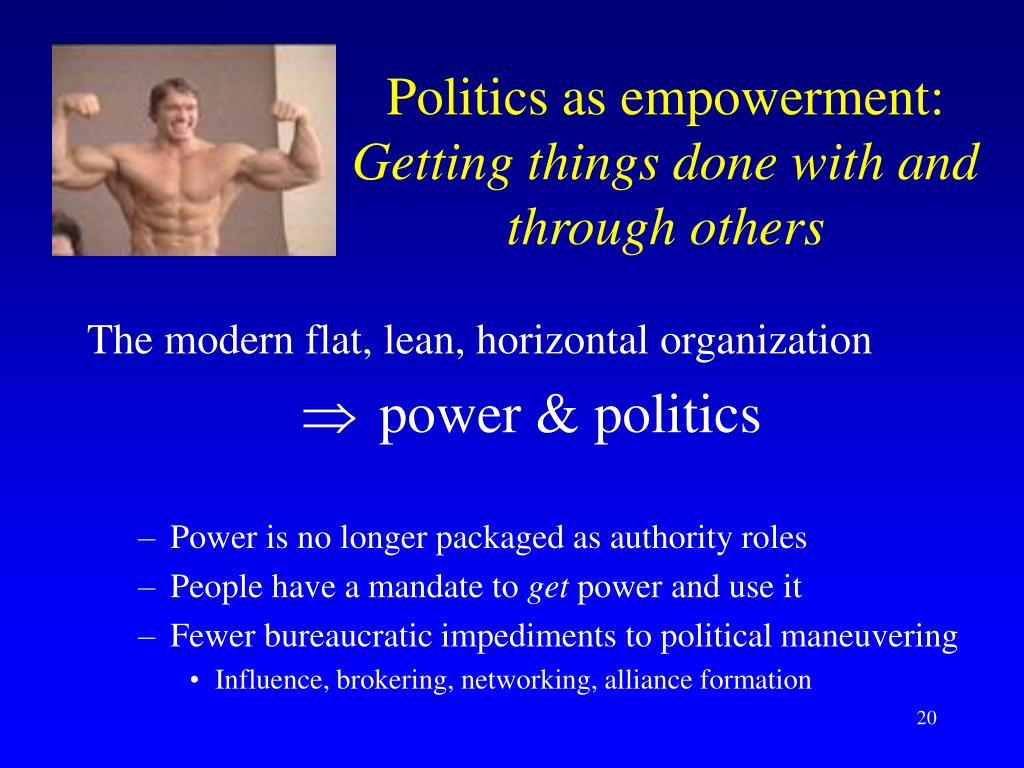 Politics as empowerment: