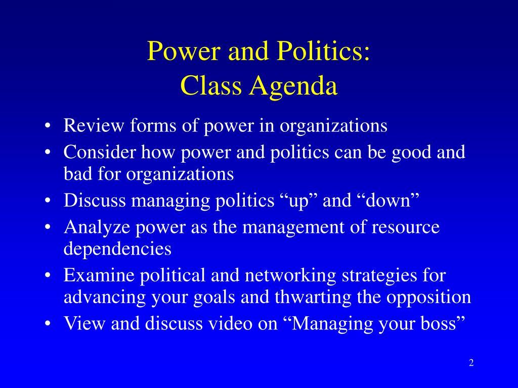 Power and Politics: