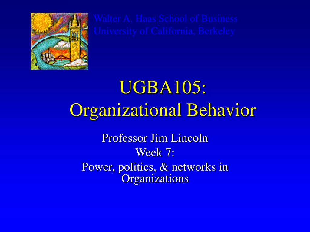 ugba105 organizational behavior l.