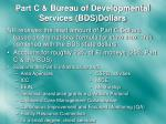 part c bureau of developmental services bds dollars
