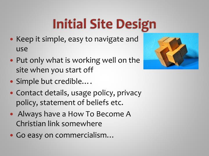Initial Site Design