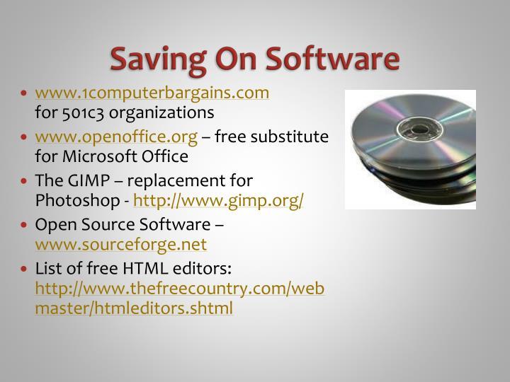 Saving On Software