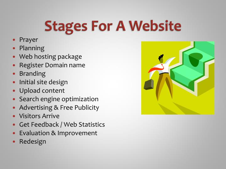 Stages For A Website