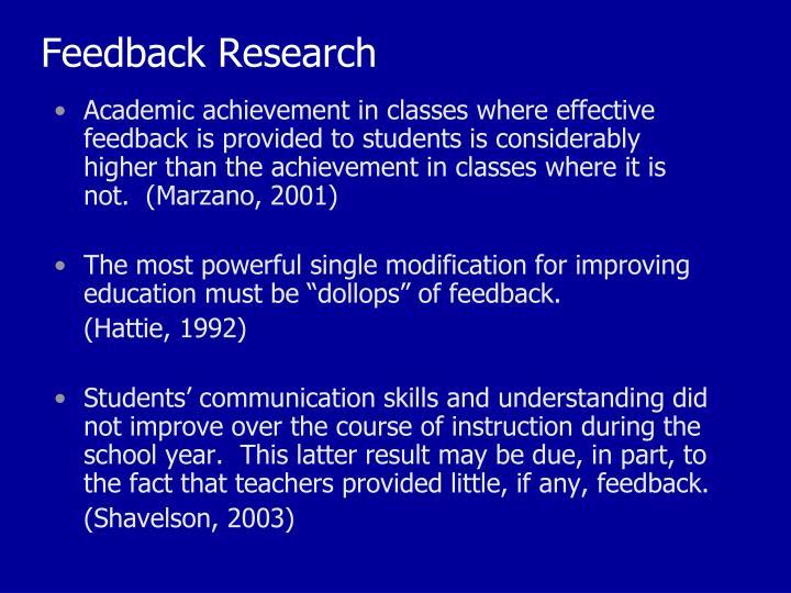 Feedback Research