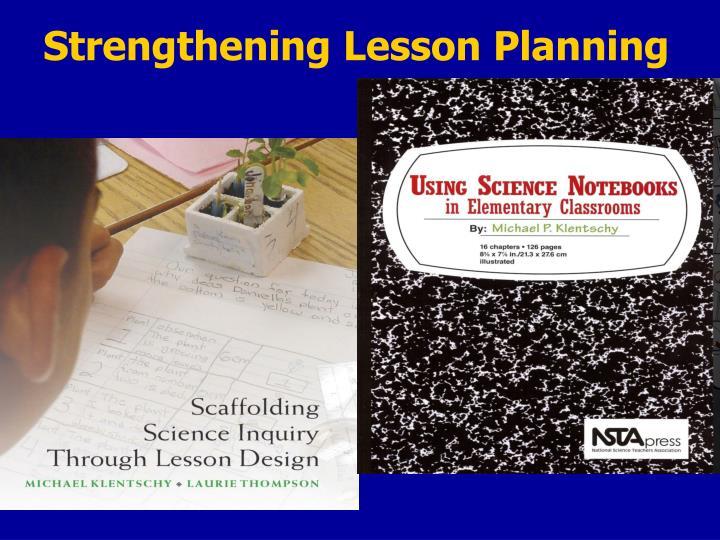 Strengthening Lesson Planning