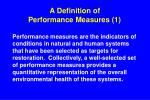 a definition of performance measures 1