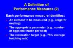 a definition of performance measures 2
