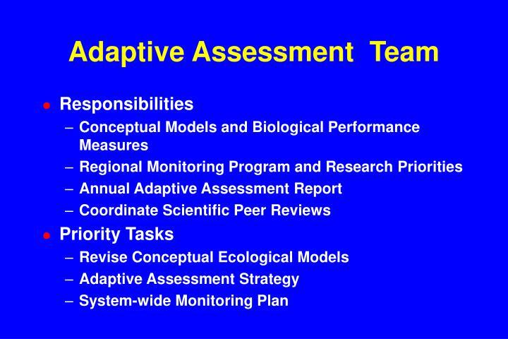 Adaptive Assessment  Team