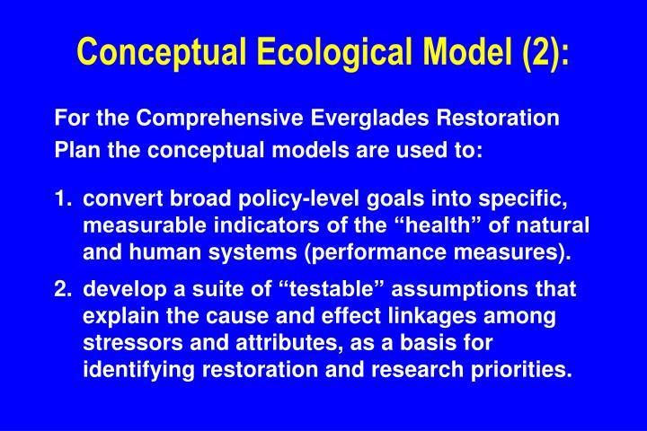 Conceptual Ecological Model (2):