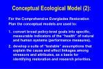 conceptual ecological model 2