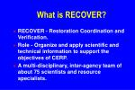 what is recover