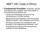 abet iie code of ethics