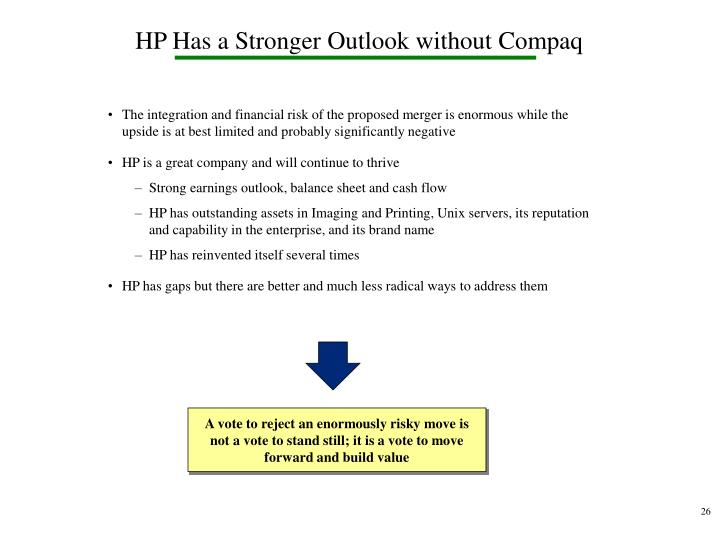 HP Has a Stronger Outlook without Compaq