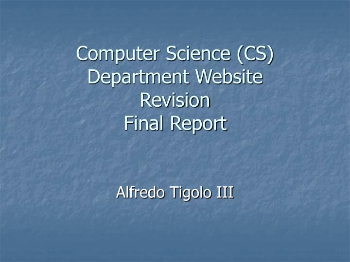 Computer science cs department website revision final report