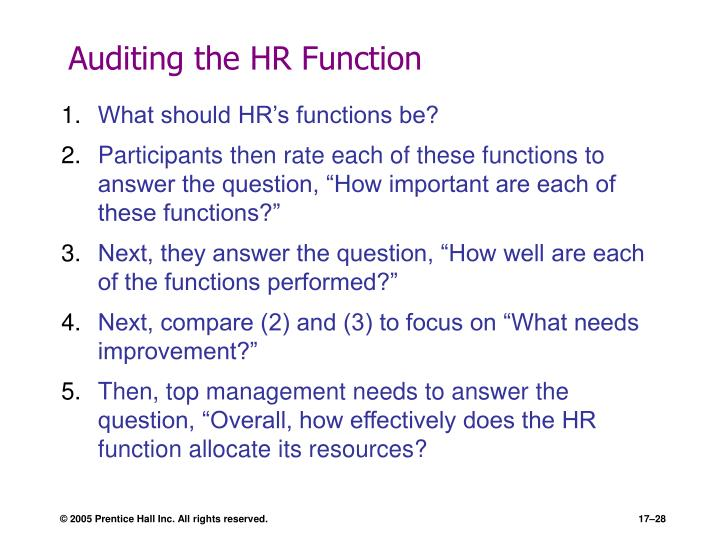 Auditing the HR Function