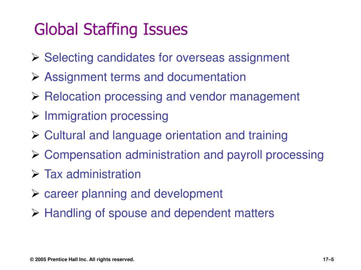 Global Staffing Issues