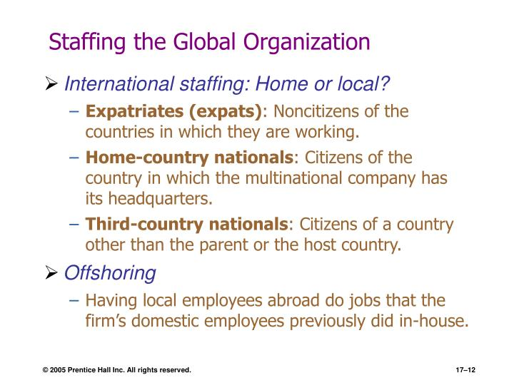 Staffing the Global Organization