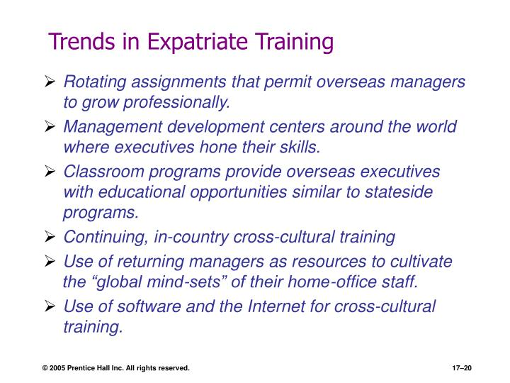 Trends in Expatriate Training
