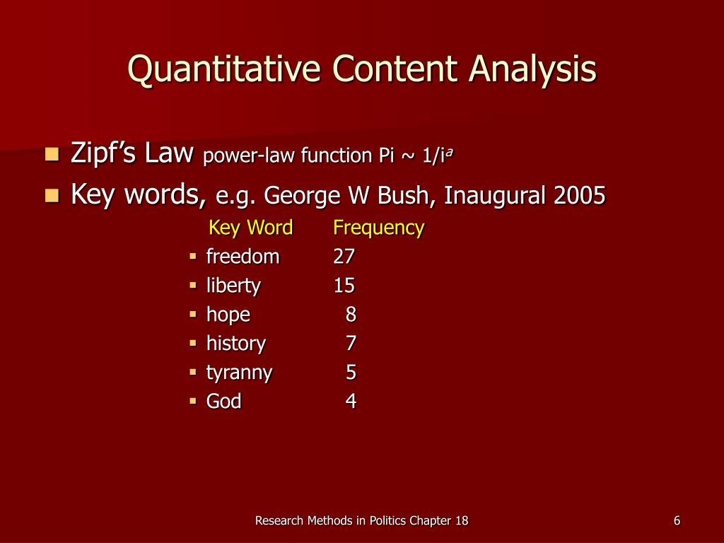 Quantitative Content Analysis