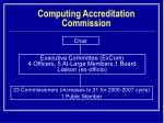 computing accreditation commission