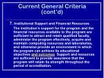 current general criteria cont d23