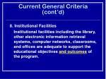 current general criteria cont d24