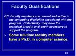 faculty qualifications