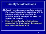 faculty qualifications32