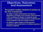 objectives outcomes and assessment