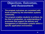 objectives outcomes and assessment31